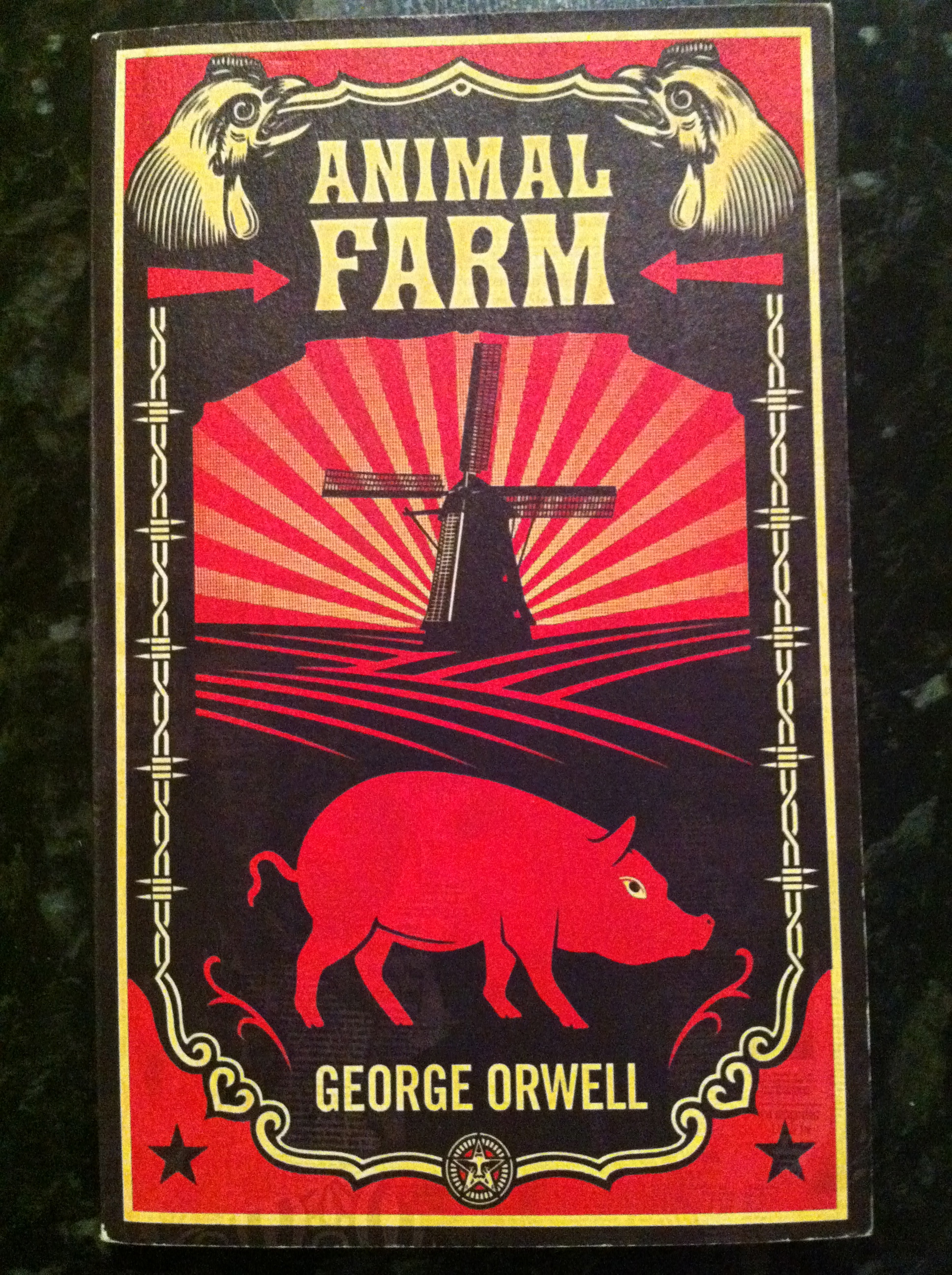 george orwell animal farm who is Animal farm dust jacket for the first american edition (1946) of george orwell's animal farm, which was first published in 1945 in great britain advertising archive/courtesy everett.